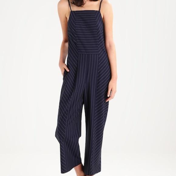 5b4ed22cdfa Banana Republic Pants - Banana Republic Navy Blue Pinstripe Jumpsuit